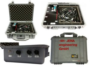 Control and supply box for special probe